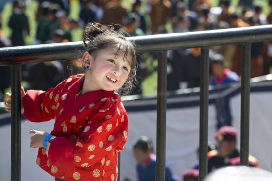 Girl enjoying Jigme Khesar Namgyel Wangchuck's Birthday